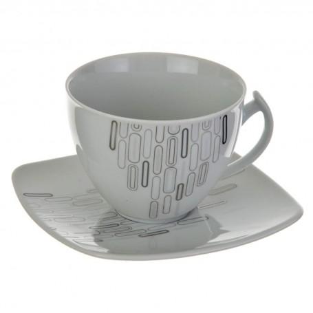 Juego de taza y plato para té Óvalos Ćmielów