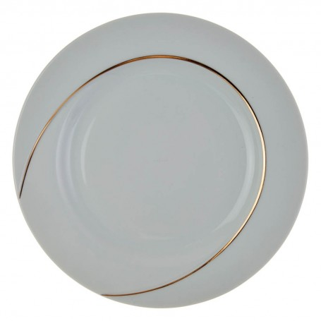 Plato tendido Semicíruclo Blanco / Dorado Ćmielów