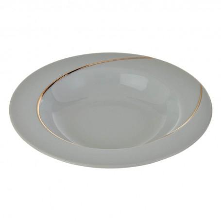 Plato para sopa Semicírculo Blanco / Dorado Ćmielów