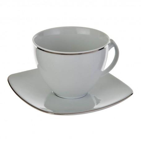 Juego de taza y plato para té Filo Silver Ćmielów