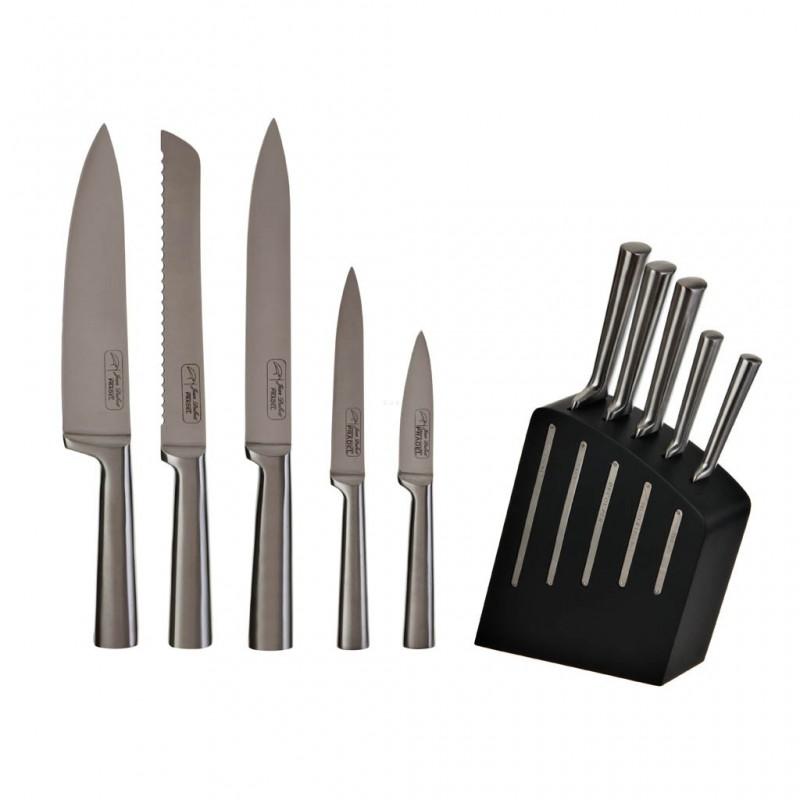 Cuchillos con bloque Kimono 6 piezas Jean Dubost