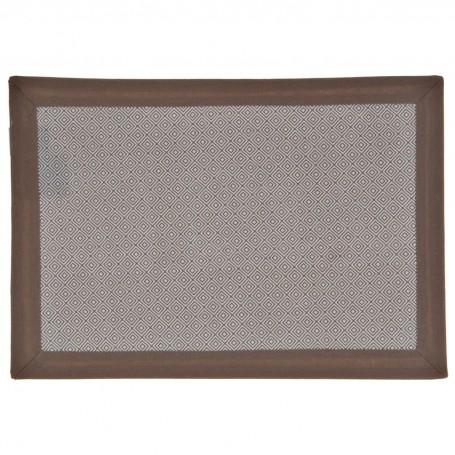 Individual Geométrico con Borde 100% algodón Haus