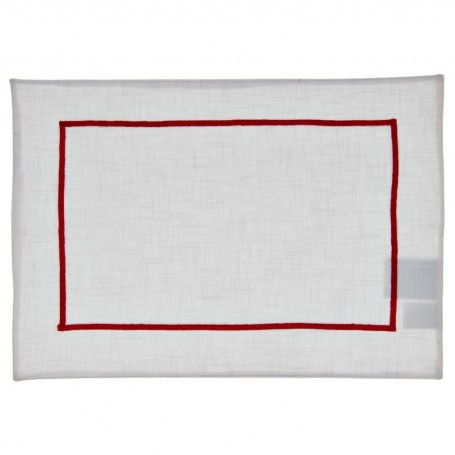 Individual Blanco Borde 100% algodón Haus
