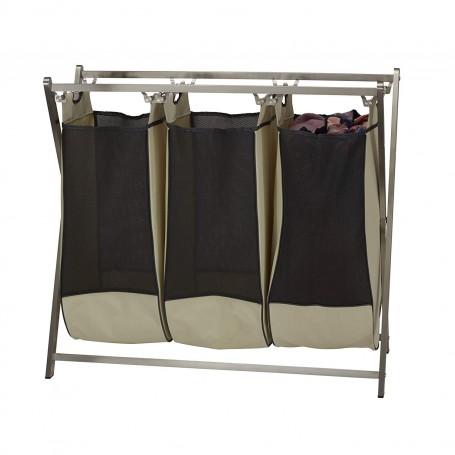 Cesto para ropa plegable 3 divisiones Household Essentials