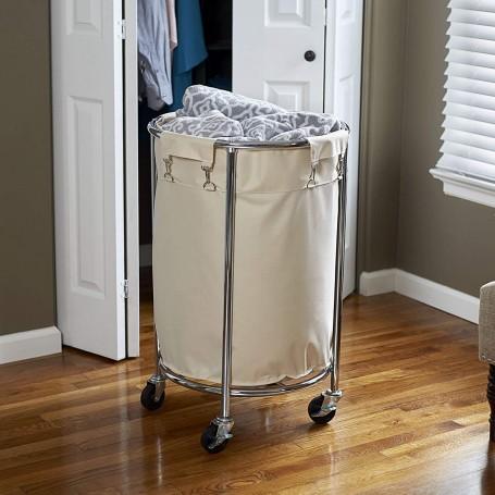 Cesto para ropa con ruedas y bolsa desprendible Household Essentials