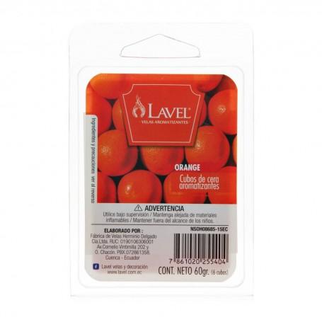 Juego de 6 cubos de cera aromarizantes para difusor Orange