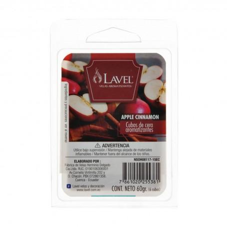 Juego de 6 cubos de cera aromarizantes para difusor Apple Cinnamon