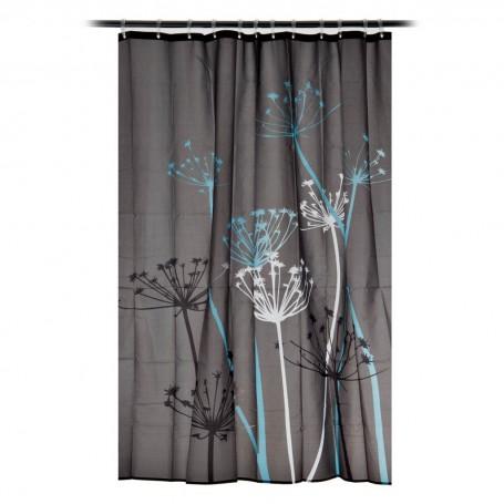 Cortina para baño Flor Thistle Interdesign