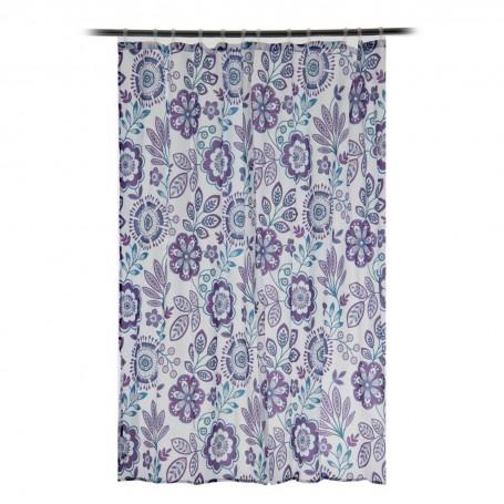 Cortina para baño Luna Floral Interdesign