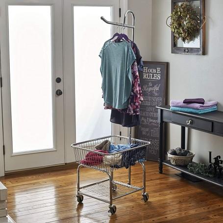 Organizador para lavandería con colgador y ruedas Household Essentials