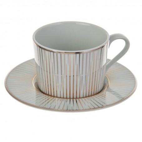 Juego de taza y plato para té Borde Rayas Glint Spal
