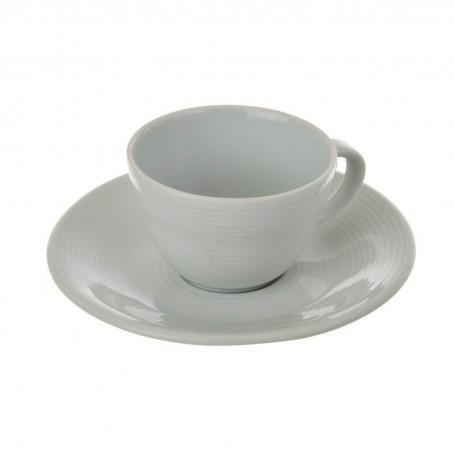 Juego de taza y plato para espresso Borde Líneas Spal