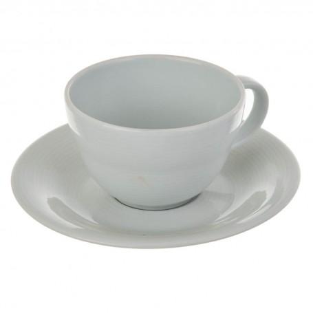 Juego de taza y plato para té Borde Líneas Spal