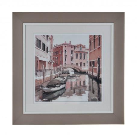 Cuadro con marco Canal de Venecia