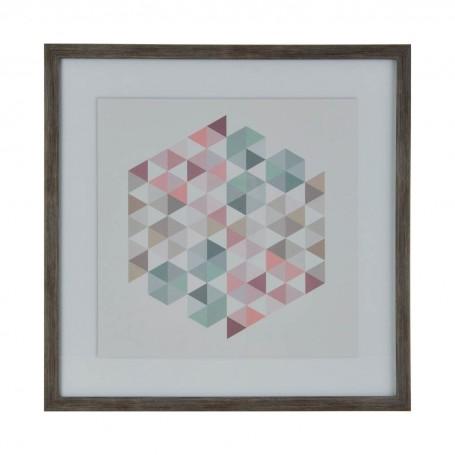Cuadro con marco Wash Geométrico