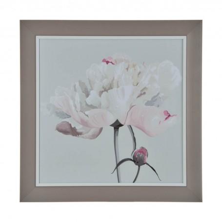 Cuadro con marco Flor Rosada / Menta