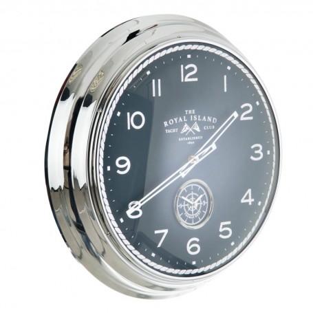 Reloj de pared con brújula