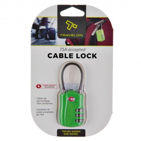 Candado para maleta con cable aceptado de TSA Travelon