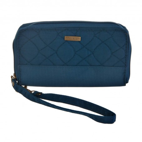 Billetera anti-robo Beige / Azul Travelon