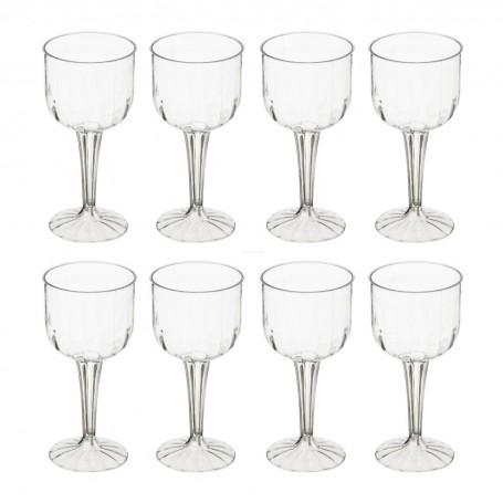 Juego de 8 copas de plástico para vino