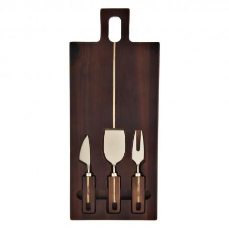 Tabla para queso con cuchillos 4 piezas Novo