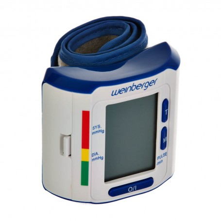 Monitor de presión arterial de muñeca con pantalla LCD y estuche Weinberger