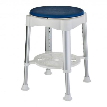 Taburete ajustable para baño con asiento acolchado giratorio 360° Weinberger