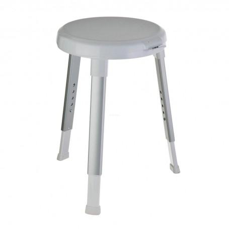Taburete ajustable para baño con asiento giratorio 360° Weinberger
