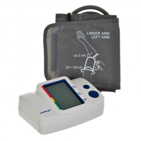 Monitor de presión arterial para brazo con pantalla LCD y estuche Weinberger