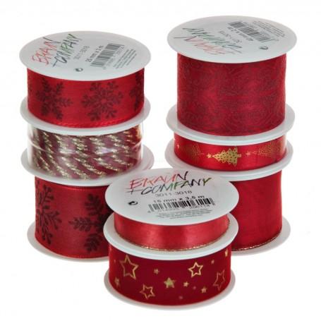 Cinta para regalo Diseño Surtido Rojo Navidad