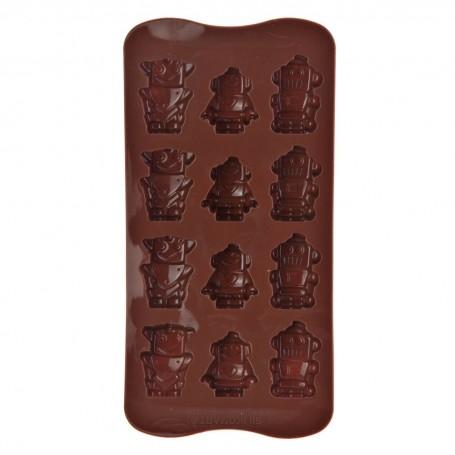 Mini molde para chocolates Robots Silikomart