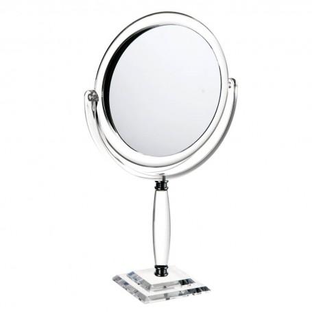 Espejo redondo doble lado con aumento 5X y pedestal