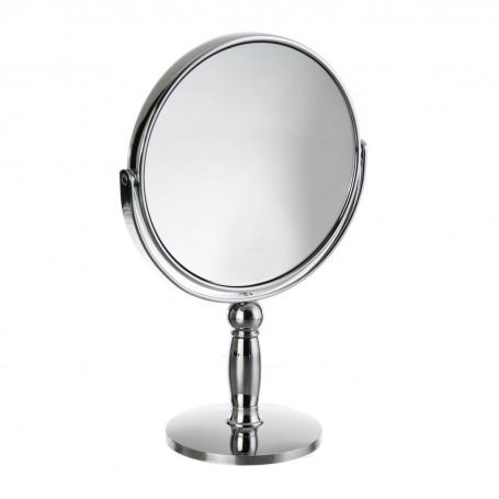 Espejo redondo doble lado con aumento 7X y pedestal