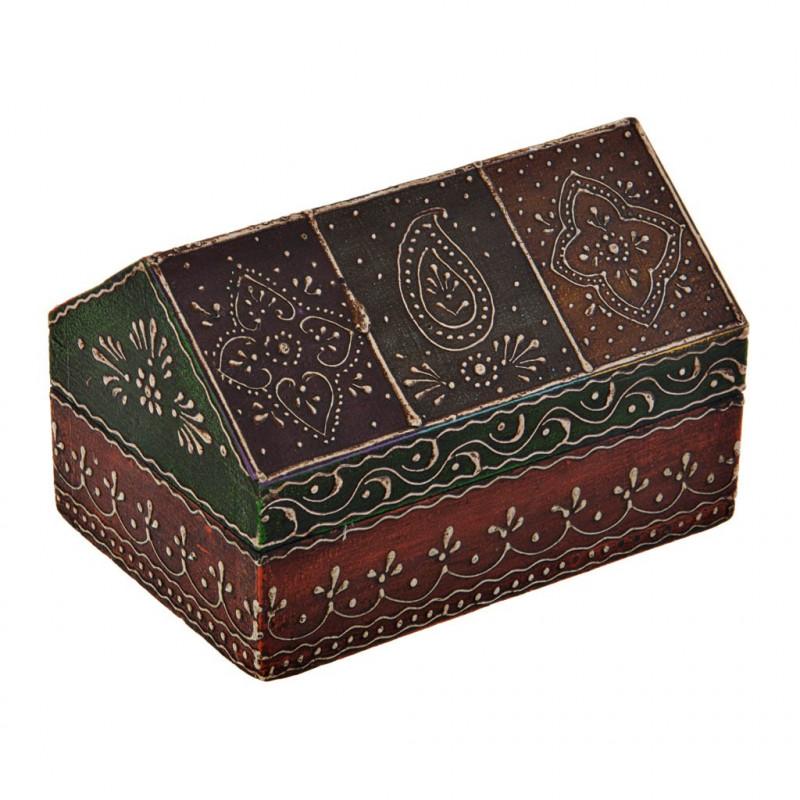Caja con tapa cono Multicolor Diseño Hindú Haus