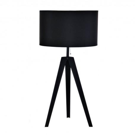 Lámpara de mesa con pantalla redonda Trípode