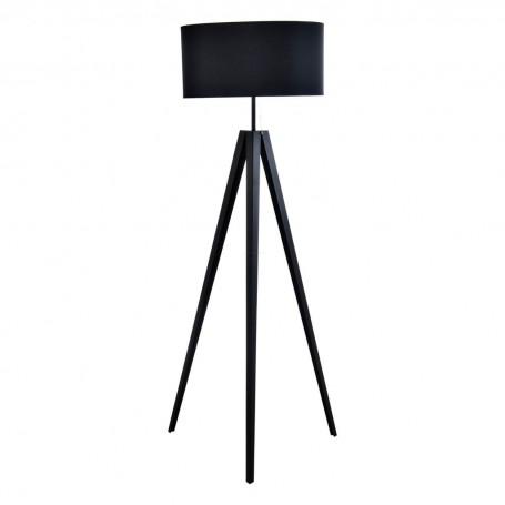 Lámpara de piso con pantalla redonda Trípode