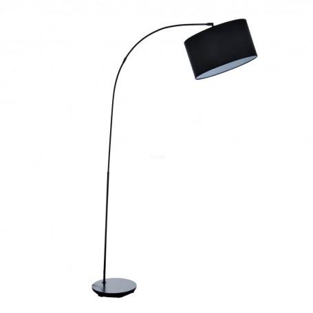 Lámpara grande de piso con pantalla redonda