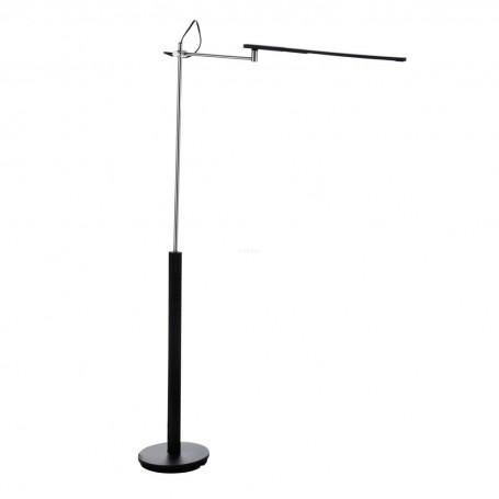 Lámpara de piso con pantalla de luz LED Negro / Silver