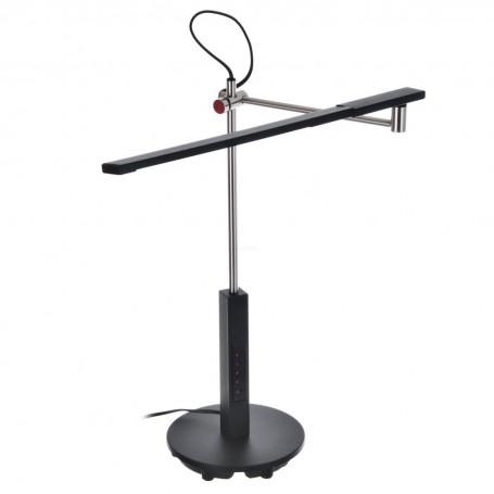 Lámpara de escritorio con pantalla de luz LED Negro / Silver