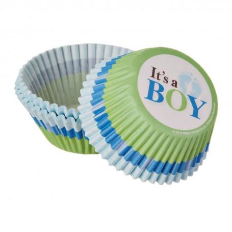 Juego de 75 pirutines de papel It's a boy Wilton