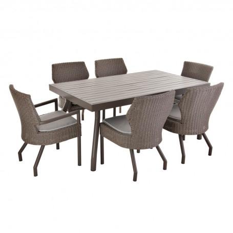 Comedor para exterior con 6 sillas 7 piezas Haus