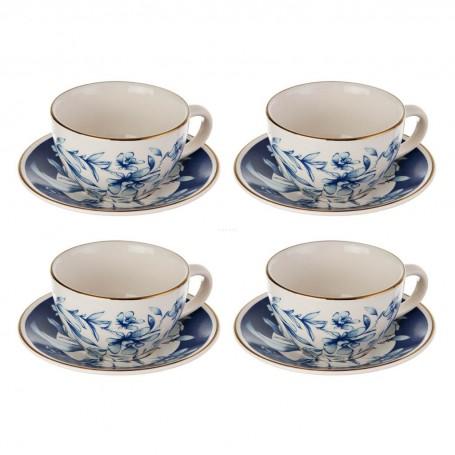 Juego de tazas y platos para té Amanpuri Flores Corona