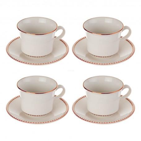 Juego de tazas y platos para té Ariana Corona