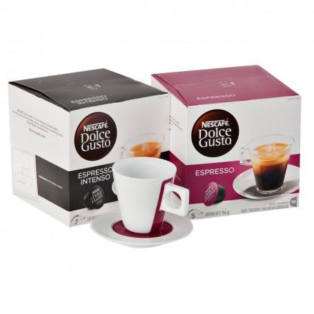 Cajas de cápsulas Espresso / Espresso Intenso + 1 taza Dolce Gusto