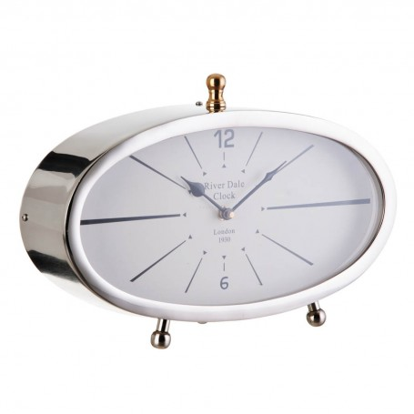 Reloj para mesa Silver / Dorado Haus