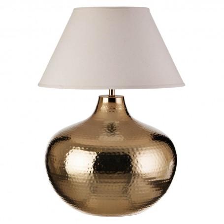 Lámpara de mesa Martillado Natural / Dorado Haus
