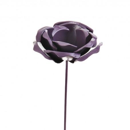 Rosa decorativa Metálica Haus