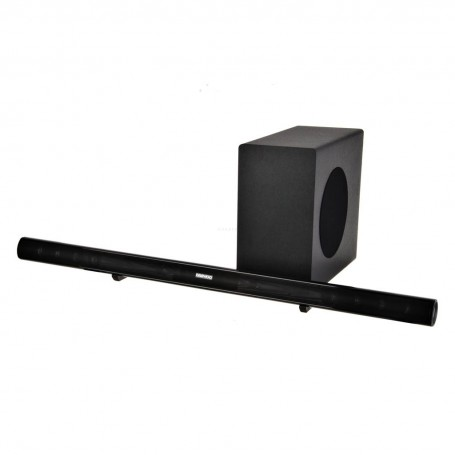 Barra de sonido con subwoofer inalámbrico Bluetooth / 2 AUX / Audio óptico 2.1c DI-1075SBW Daewoo