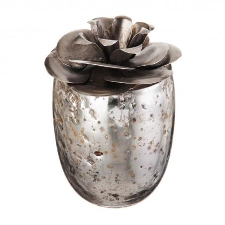 Vela vaso con tapa Flor Rosa Kaffir Lime Haus