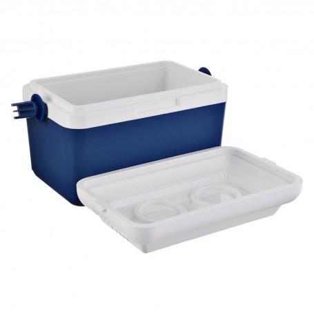Caja térmica 100% plástico Blanco / Azul
